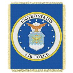 US Air Force Armed Forces Triple Woven Jacquard Throw (48x60)