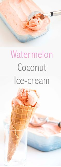 I love this Watermelon Coconut Ice-Cream recipe because not only is it easy to make, but it is so beautifully light and creamy. The watermelon and the coconut cream compliment each other perfectly.