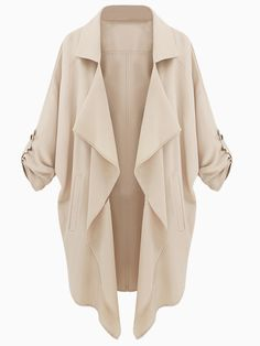 Beige Coat With Half Sleeves - Fashion Clothing, Latest Street Fashion At Abaday.com