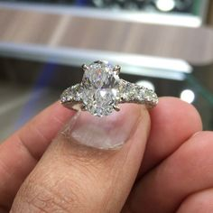 3.01 carat center 5.56 carat total weight pure  D-Si1 #certified #diamonds #beauty #engagement #forsale #gorgeous #hero #iceking #jewelry This is the  that will make her  @lioridiamonds