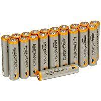 Amazonbasics Aaa Performance Alkaline Batteries 20 Pack Packaging May Vary Alkaline Battery Battery Pack Rechargeable Batteries