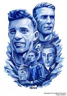 Illustrations for FC Zenit by Evgeny Parfenov, via Behance