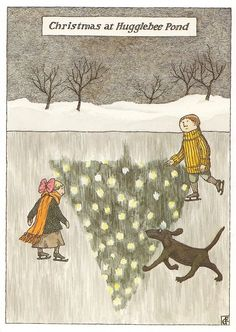 Christmas at Hugglebee Pond  Edward Gorey