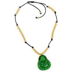 Onyx Carved Buddha Jewelry Gold Plated Beaded Fashion Handmade