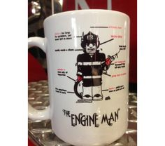 Personalized Coffee Mug - Custom Coffee Mug - Engine Firefighter Ceramic Coffee Mug- Firefighter Cup- Firefighter Gift Firefighter Home Decor, Firefighter Gifts, 1980 Cartoons, Personalized Coffee Mugs, New Engine, Toiletry Bag, Fire Trucks, How To Memorize Things, Engineering