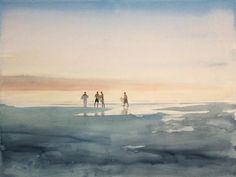 Sand, Surf & Cities - Fantastic Paintings by Tim Gardner   Drawdeck #illustration #watercolor
