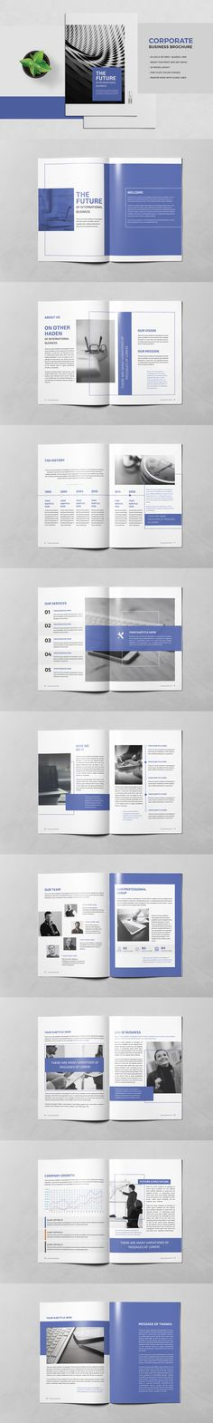 Business Brochure Template InDesign INDD - Unlimited Downloads