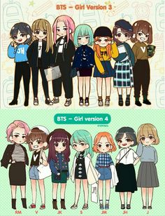 Bts Girl Version 3 & 4 #Bts #GirlVersion