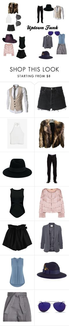 """""""Uptown Funk"""" by emmadaigle on Polyvore featuring RE/DONE, Monki, ASOS, Maison Michel, Dockers, Missoni, Vero Moda, Christys', Zimmermann and Alexander McQueen"""