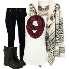 Cute cardigan and boots awesome winter outfit for school and dates