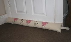 Hearts & Anchors - Homemade Draught Excluder - http://survivingthesheep.com/hearts-anchors-homemade-draught-excluder/
