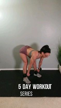 5 day at home fat burning workout series. Build strength and muscle at home with this week of full body workouts. The only equipment you need to perform these workout routines are a pair of dumbbells and a resistance band. #homeworkout #womensworkout #workoutroutine #exercisefitness #fitness #fittiff Fitness Workouts, 5 Day Workouts, Cheer Workouts, Workout Days, Easy Workouts, At Home Workouts, Workout Routines, Fitness Motivation, Glute Workouts