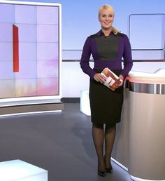 Anja Petzold, High Neck Dress, Dresses For Work, Celebs, Lady, Germany, Google, Fashion, Turtleneck Dress