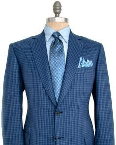 Image of Brioni Blue Check Sportcoat