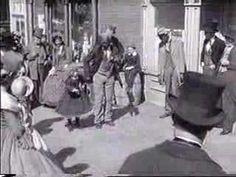 """Bill Bojangles Robinson and Shirley Temple dance in """"The Littlest Rebel"""""""
