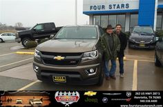 Congratulations to John Martinez on your #Chevrolet #Colorado purchase from Gene Klinkerman at Four Stars Auto Ranch! #NewCar