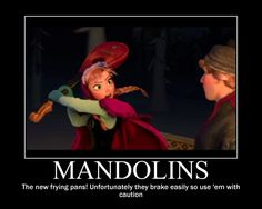 Mandolins are the new frying pans