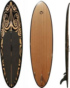 $1,099.00 -  Bamboo, Creed SUP 10 Kai - This is a 10' paddleboard at only 21.4 lbs!   Insanity.  Stand up paddle the bays, rivers, lakes, and the surf with ease.  Super flat mid bottom shape keeps volume in touch with the water (speed and stability), enabling a great flatwater paddle, while the sharper nose and tail rockers, rounded rails, and lighter weight foam make this paddle board easier to manuever in all types of surf.   DOES NOT SHIP TO AK.