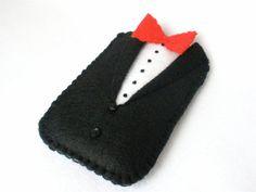 Black Tuxedo Felt Phone Case Black Tuxedo Father's Day Groomsmen Steppin' Out
