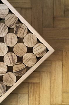 Particular of solid #wood #cylinders #sofia #collection