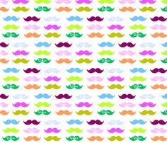 Mustache Candy-Personalized white fabric by drapestudio on Spoonflower - custom fabric -see all finished products with this design on www.cafepress.com/drapestudio and made to order beautiful organic cotton blankets  at www.etsy.com/shop.drapestudio