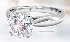 This ring is really pretty.                      Check out this Sweepstakes to win a $5000 Diamond Engagement Ring on Ritani