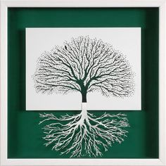 ROOTING - paper cut and paper sculpture - photographic reproduction art card on Etsy, £4.36