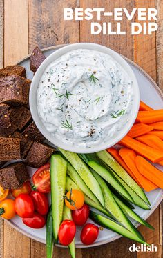 This Dill Dip Makes Us Actually Crave Veggies Dill Dip Recipes, Healthy Dip Recipes, Healthy Dips, Healthy Eating, Cooking Recipes, Homemade Veggie Dip Recipe, Healthy Dip For Veggies, Snacks Recipes, Healthy Appetizers
