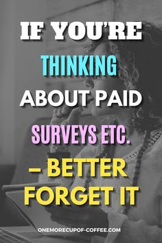 With the tons of survey sites out there, you're bound to encounter the really bad ones, and Paid Surveys Etc is one of them. The money they're claiming you'll be making is entirely unrealistic. And then add the fact that you actually have to pay to be a member. If you're still considering Paid Surveys Etc, see here why you'll be better off if you don't. #surveys #money #online Make Money Online Surveys, Paid Surveys, Online Income, Earn Money From Home, Way To Make Money, Survey Companies, Survey Sites, Virtual Jobs, First Website