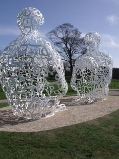 Jaume Plensa at the Yorkshire Sculpture Park, photo by Nigel Homer
