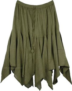 Can't find a picture of exactly what I want (which doesn't bode well for finding the skirt itself!) but a brown handkerchief skirt that just brushes my knees