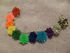 Duct Tape Bracelets | Duct Tape Rose Charm Bracelet by czerance on Etsy