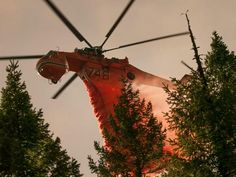 Fire retardant drop. The Forest service doesn't own this though, It's a Skycrane owned by Erickson