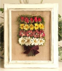 Save your spring and summer flowers. You can turn the dried blooms into a keepsake shadow box. Click through to learn how.