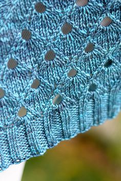 Cathedral is a striking lace shawl worked from the top down. It features an unusual lace pattern with strong geometrical lines and clean construction. The effect is both modern and classical, and can be adapted to any yarn weight you desire. Knitting Stiches, Knitting Yarn, Crochet Stitches, Knitting Machine, Free Knitting, Yarn Projects, Knitting Projects, Crochet Projects, Knitting Tutorials