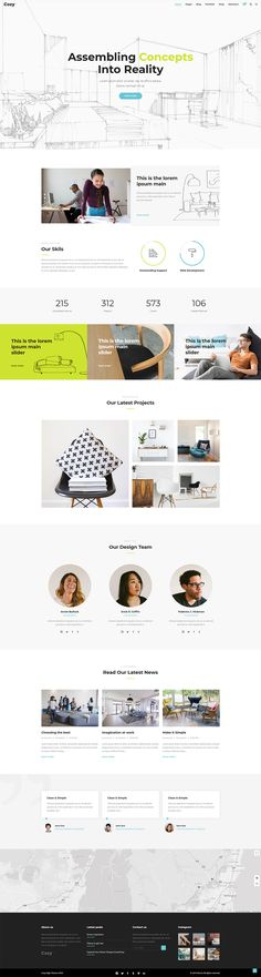 Cozy – a WordPress theme created to make your architecture and interior design website stand out! This theme is packed with an impressive collection of homepages and portfolio layouts perfect for interior design and furniture design businesses. Interior Design Themes, Interior Design Website, Layout Design, Web Design, Design Ideas, Portfolio Layout, Creative Portfolio, Technology World, Home Studio