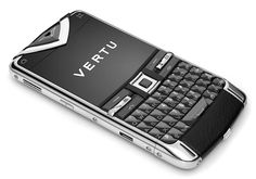 Vertu Constellation Quest. Designed the leather covered main chassis and antenna, the battery compartment, SIM mechanism and SD card slot. Ear pillow frame and the allignment of the sapphire hotkeys at the top. Very proud of this one :o)
