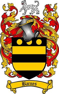 barnes family crest barnes coat of arms gifts available at WWW.4CRESTS.COM…