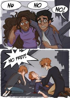 (But Harry appreciates it! I've wanted to draw the ACTUAL Harry and Ginny kiss for ages! Harry Potter Comics, Gina Harry Potter, Mundo Harry Potter, Harry Potter Artwork, Harry Potter Drawings, Harry Potter Pictures, Harry Potter Books, Harry Potter Universal, Harry Potter Fandom