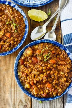 Delicious and hearty Vegan Lentil Stew, so easy to prepare from everyday kitchen ingredients. It is comforting and economical for feeding a crowd.