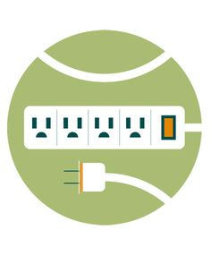 Give small appliances a break whenever you can. Computers, cell phone chargers, and other electronics often continue to use power -- and radiate heat -- even when turned off. To simplify, plug items into a power strip that you can use as a master switch.
