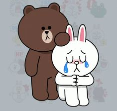 The perfect ConyBrown DontBeSad StopCrying Animated GIF for your conversation. Discover and Share the best GIFs on Tenor. Cute Couple Cartoon, Cute Love Cartoons, Cute Cartoon, Cony Brown, Brown Bear, Gif Lindos, Line Animation, Bear Gif, Cute Bear Drawings