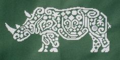 Tribal Rhino - Cross Stitch Pattern