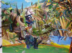 Landschapscode.Oil on canvas, 150x200 cm, 2012
