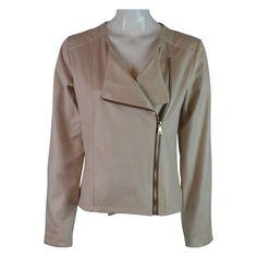 BeFun Suede Zip Jacket in Cream | Jackets | Fashion