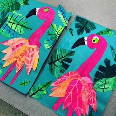 I love these sweet Grade Flamingos! We are finally starting to finish these … - Knutselen ideeën - I love these sweet Grade Flamingos! We are finally starting to finish these … -