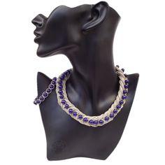 Linen jewelry set, bracelet and necklace, natural linen cord Natural Linen, Cord, Lens, Bracelets, Jewelry, Fashion, Moda, Cable, Jewlery