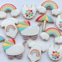 377 отметок «Нравится», 14 комментариев — Miss Biscuit (@miss_biscuit_) в Instagram: «Rainbow baby shower themes have been popular for a while! If you would like to learn how to make…»