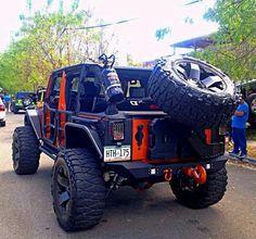 Jeep- loving the tank on the back . Next on my jeep upgrade list Jeep 4x4, Jeep Truck, 4x4 Trucks, Cool Trucks, Off Road Jeep, Cherokee, E90 Bmw, Badass Jeep, Jeep Mods