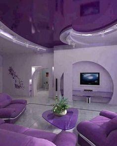 Entzuckend Lila Wohnzimmer, Wohnzimmer Design, Schlafzimmer, Rigips, Raumgestaltung,  Wohnraum, Farbenfroh,